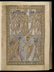 Betrayal and Flagellation, in The Winchester Psalter